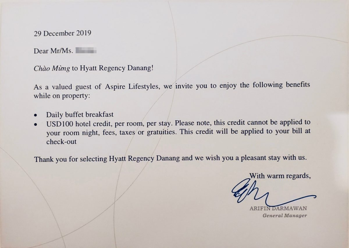 HYATT_REGENCY_Danang_Resort&Spa_Club-Access-Twin_welcome-message